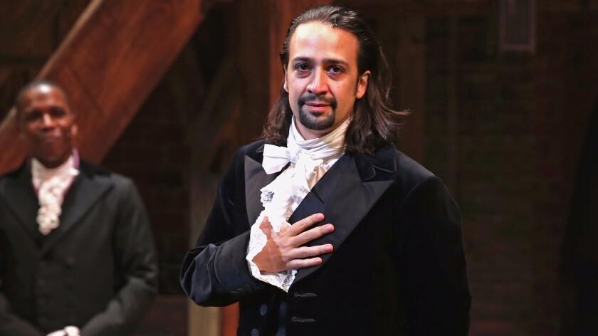 """Lin-Manuel Miranda in """"Hamilton"""""""