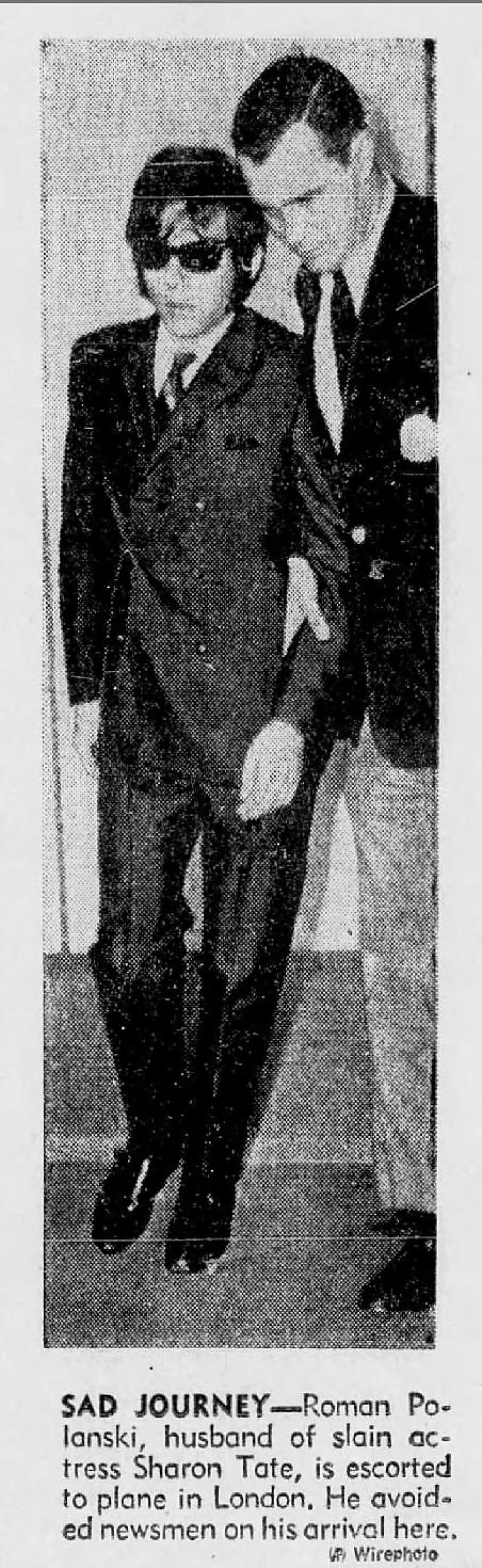 Roman Polanski escorted to plane in London