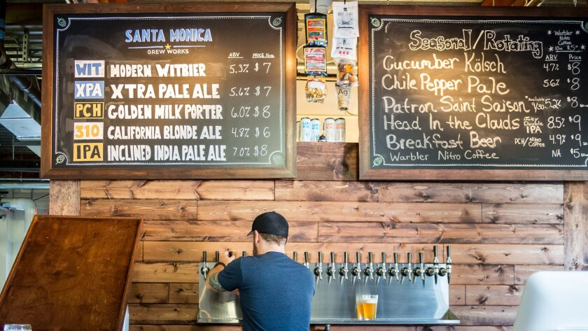 Santa Monica Brew Works in Santa Monica is the first craft brewery tasting room in the area.