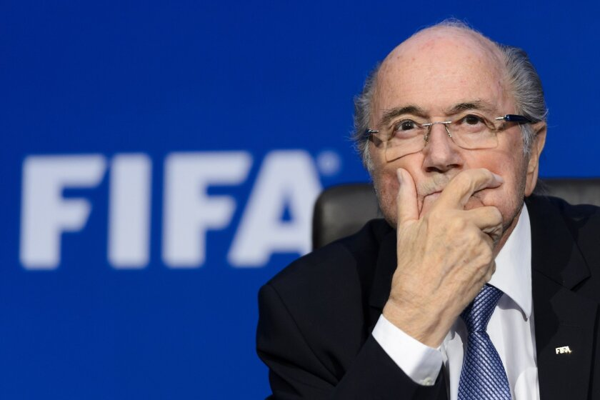 FIFA President Sepp Blatter attends a news conference in Zurich, Switzerland, on July 20.