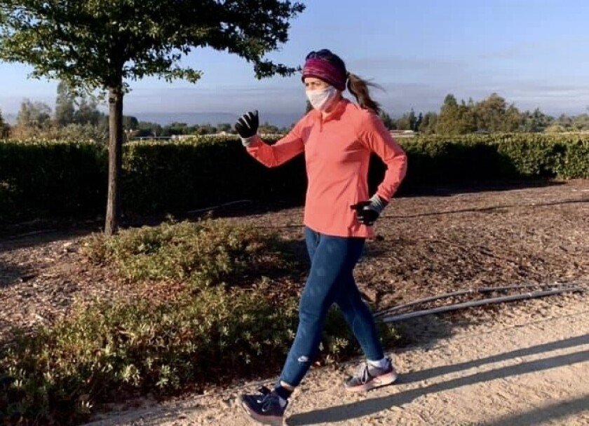 Less than three weeks after donating a kidney, Temecula mom Christine Massa power walked a 5K.