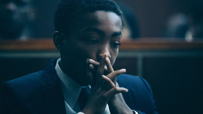 "Asante Blackk as Kevin Richardson in ""When They See Us."""