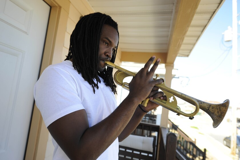 Musician Shamarr Allen said his life changed when he was 12 or 13 and first played trumpet for tips.