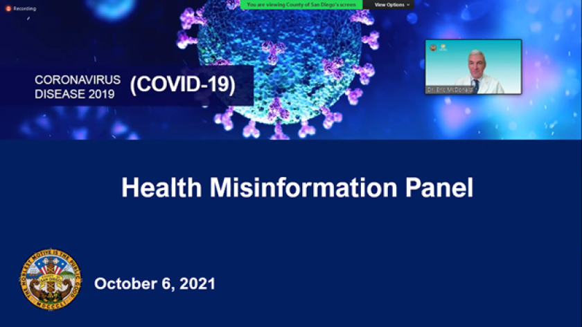 The county convened a panel of medical experts to debunk COVID-19 made during the Board of Supervisors meeting.