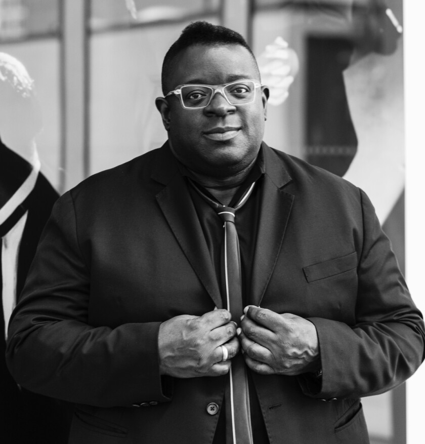 Isaac Julien said the new mural features a still from his 2013 film 'Playtime,' which looks at the role of capital and how it plays out in various characters' lives.