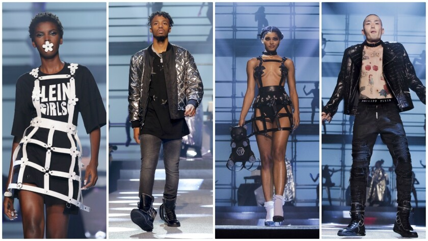 Looks from the spring and summer 2018 Philipp Plein runway collection presented on Sept. 9, 2017, du
