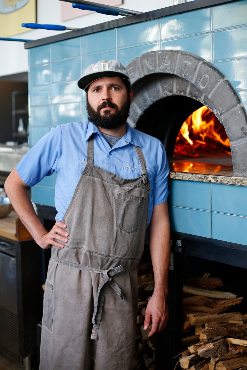 A photo of Chef Matt Lyons of Tribute Pizza in North Park on Oct. 15, 2019.