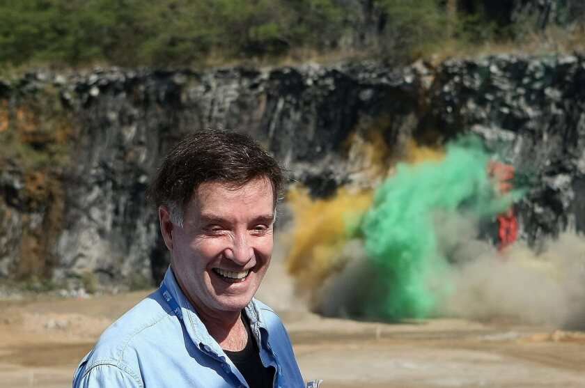 Brazilian mogul Eike Batista attends the launch of the construction of a harbor in Itaguai in July 2010.