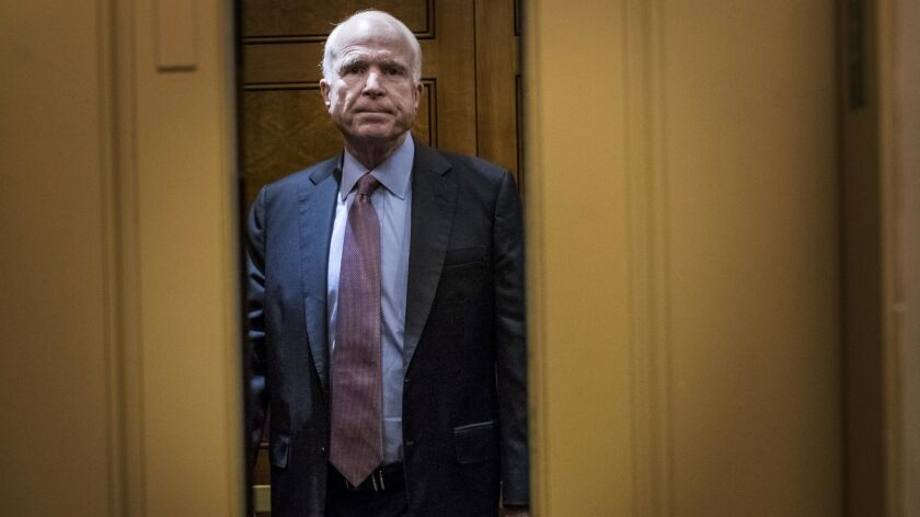 Sen. Jon McCain (R-Ariz.), who has been away from the Capitol battling cancer, is the most closely watched figure in the debate over GIna Haspel's nomination to lead the CIA.