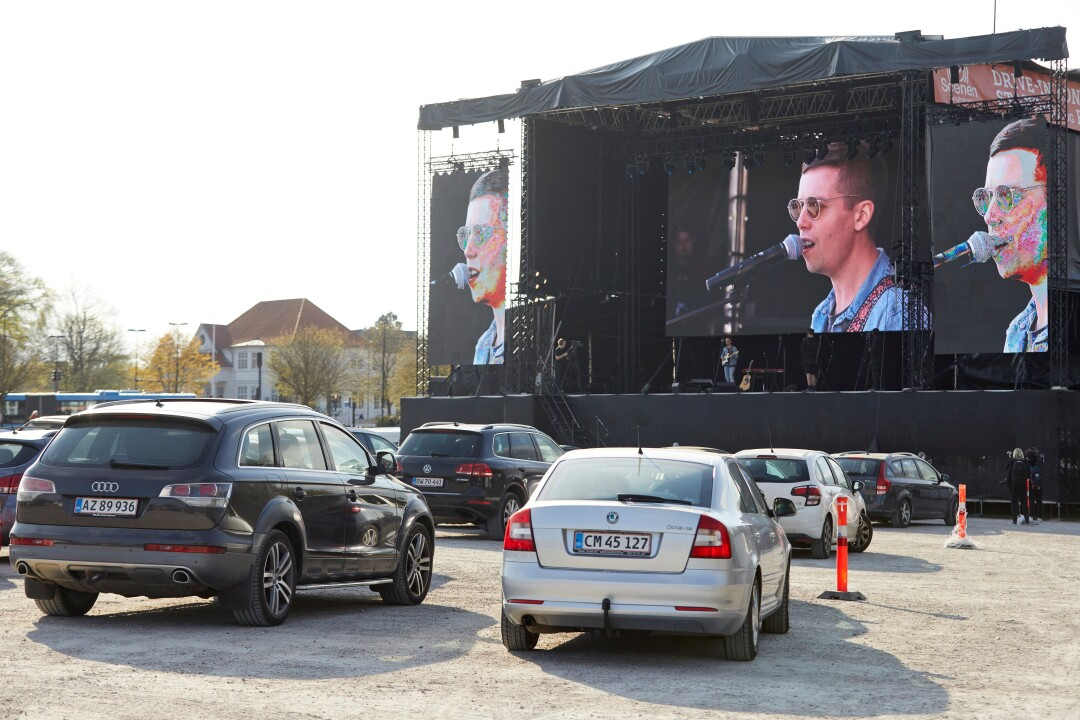 Mads Langer's April 24 drive-in concert in Aarhus, Denmark, drew a sell-out crowd.