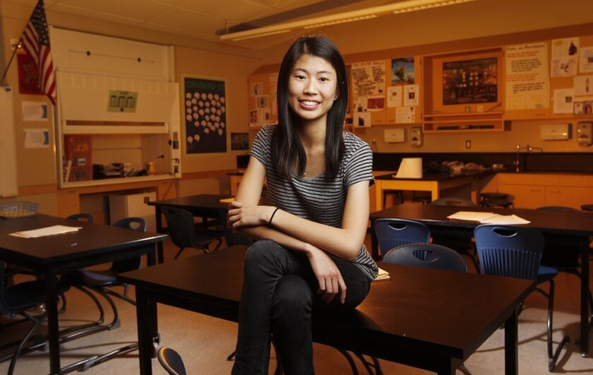 DEC. 1, 2016 - Rose Hong, a junior at Del Norte High School, has been named a National Finalist in the Siemens Competition in Math, Science & Technology,