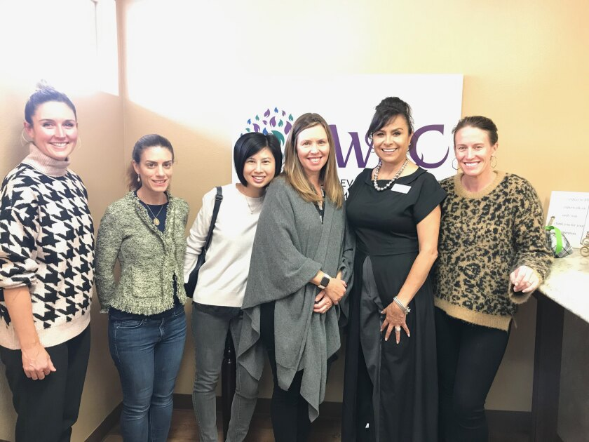 Some of the group members visited the Women's Resource Center, one of the organizations they selected for a 2019 grant.