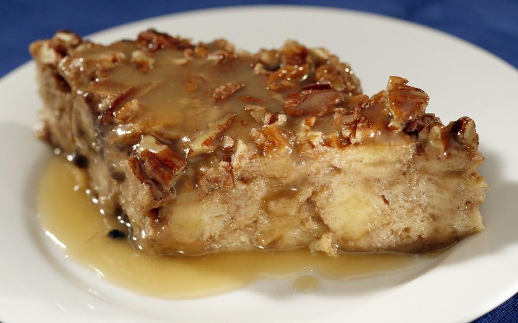 Zea's sweet potato bread pudding with rum sauce