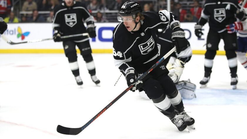 Rookie Matt Luff scored the Kings' only goal during a loss to Montreal on Tuesday at Staples Center.
