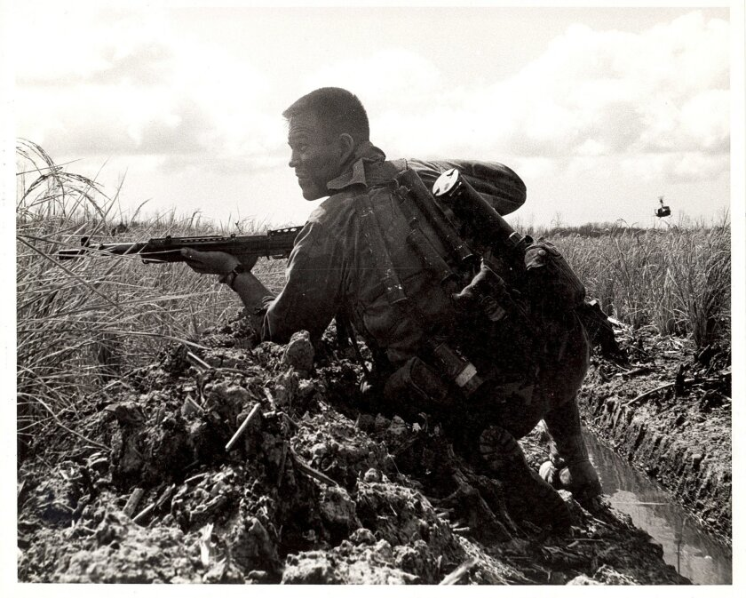 Chief Gunner's Mate Barry Enoch, SEAL Team One, Navy Cross recipient in April 1970.