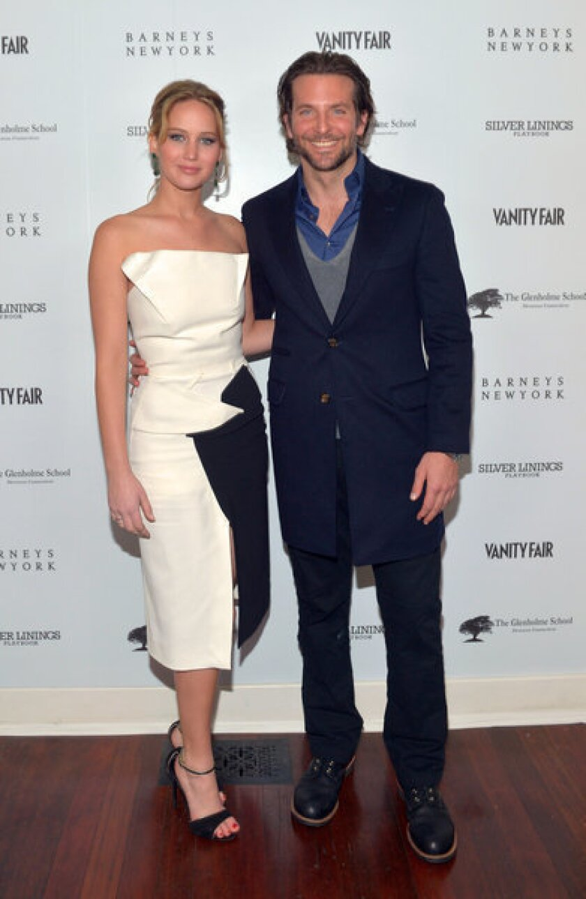 Jennifer Lawrence, Bradley Cooper shine at 'Silver Linings' party
