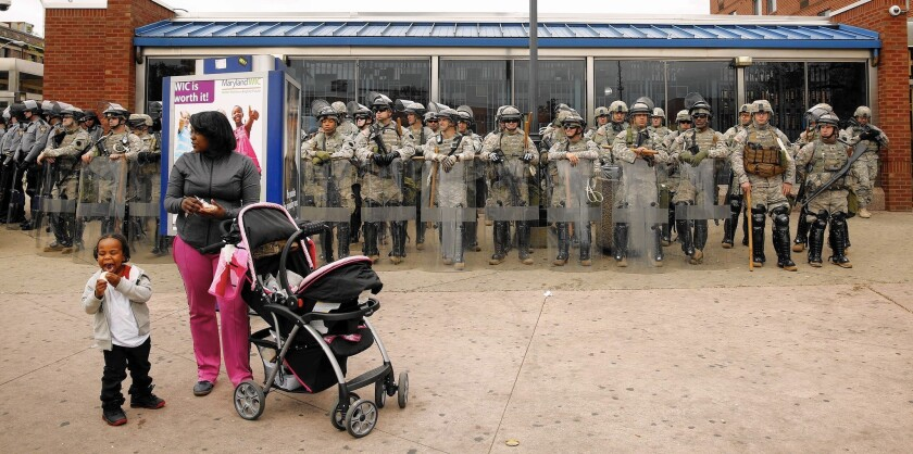 National Guardsmen in Baltimore