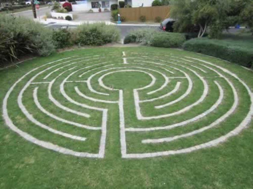 This labyrinth at St. Andrew's Episcopal Church in Encinitas is Michael Hinkley's leadership service project to earn the Eagle Scout rank. Courtesy