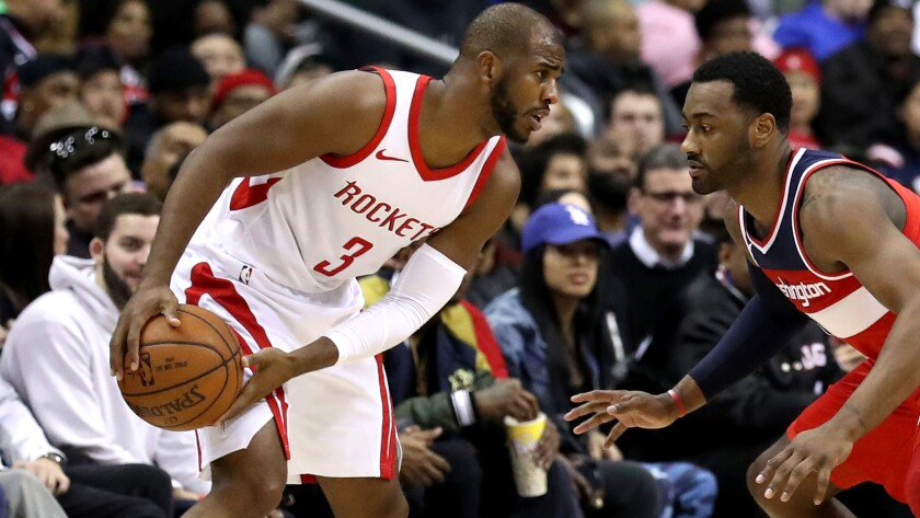 Chris Paul and the Rockets enter Monday's game against the Clippers with the best record in the NBA at 35-9.
