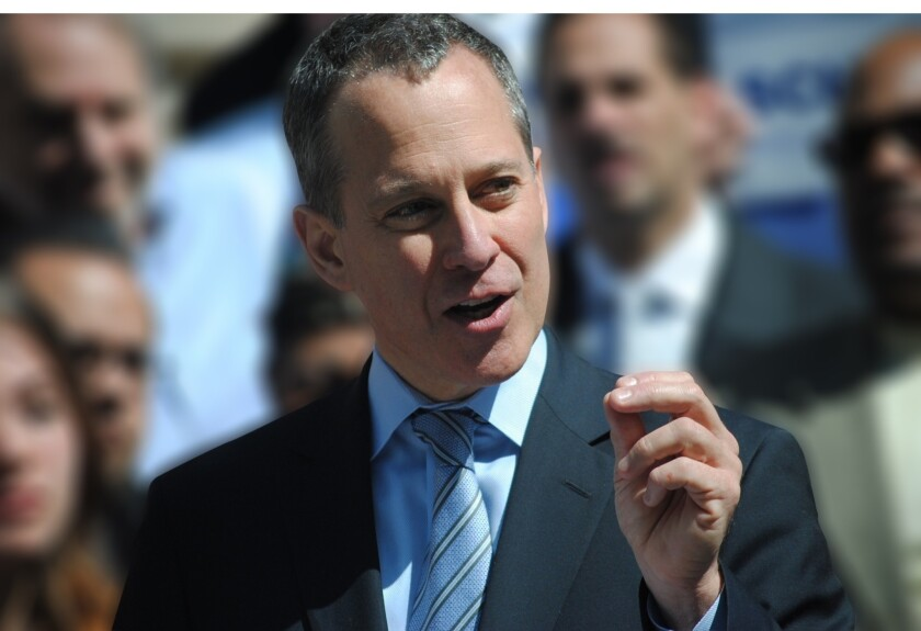 New York Atty. Gen. Eric T. Schneiderman, shown in April, announced a settlement Thursday with Hobby Lobby over false advertising claims. The Oklahoma City retailer will pay $220,000 in civil penalties and in gift cards to upstate New York schools.