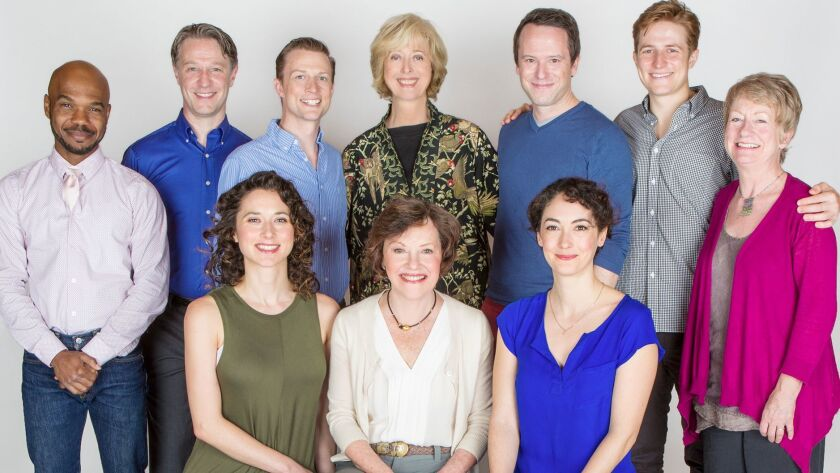 Tony Award nominee Maria Aitken (top center) is directing for the first time at the Old Globe Theatre.