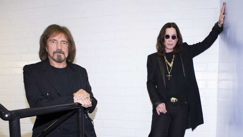 Geezer Butler of Black Sabbath, left, was arrested following a bar fight in Death Valley.