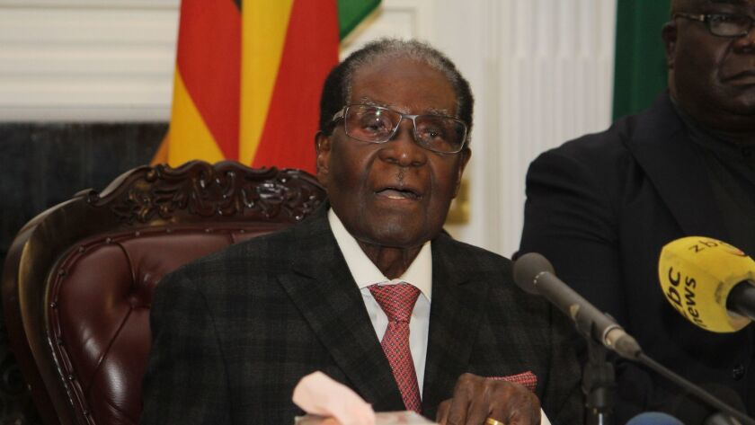 Robert Mugabe resigns as President, Harare, Zimbabwe - 19 Nov 2017