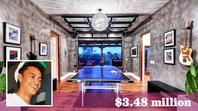 X Games star Nyjah Huston lists his tricked-out home in San