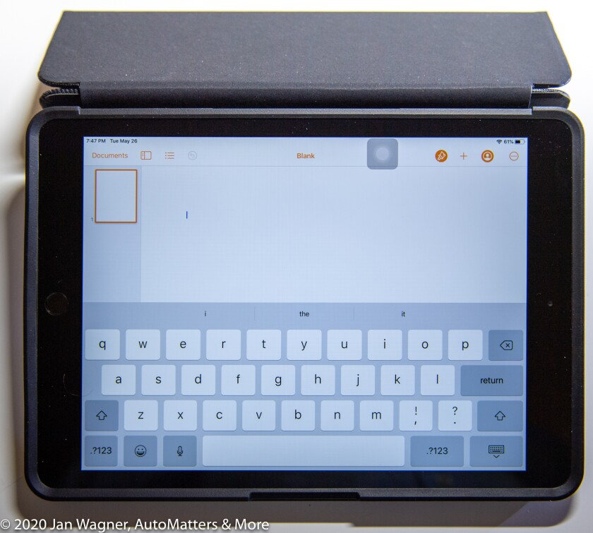 Typing configuration with the OtterBox Symmetry Folio Series case