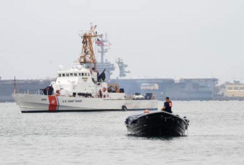 The U.S. Coast Guard cutter Narwhal is shown at its Corona del Mar berth in 2015.