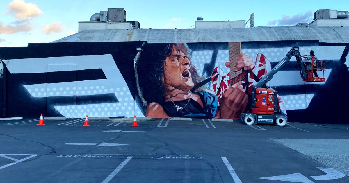 Mural honoring Eddie Van Halen to be unveiled in Hollywood - Los Angeles Times