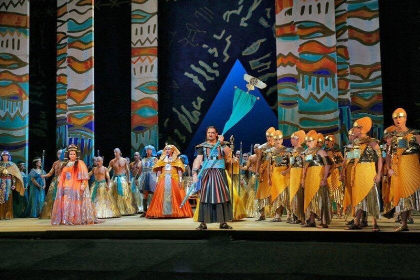 "The San Diego Opera's ""Aida"" at the Civic Theatre. Photo: San Diego Opera"