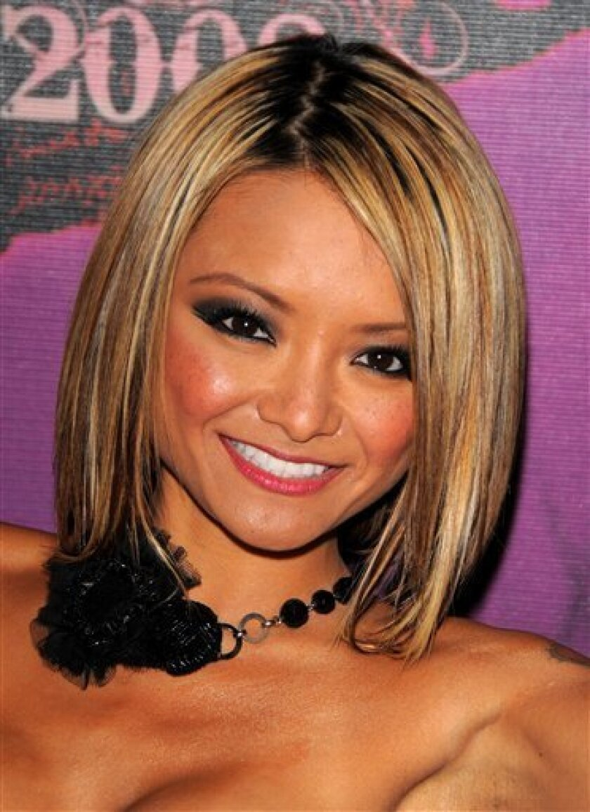 Tila Tequila makes an appearance at MTV Studios in New York. (AP Photo/Peter Kramer)