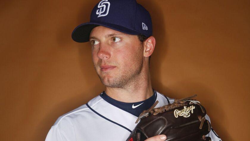 San Diego Padres pitcher Robbie Erlin.