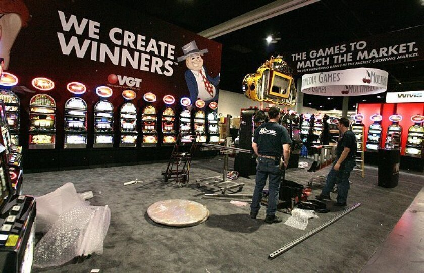 Preparations for the 25th annual National Indian Gaming Association convention take place at the San Diego Convention Center. Some 4,000 industry officials are expected to attend.