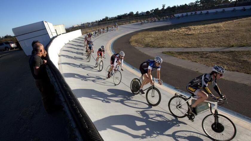 Cyclists from beginner to Olympic levels are welcome at the San Diego Velodrome; check training schedules. Clinics are available for children, and groups that aim to bring more women into the sport of track cycling. (UT San Diego)