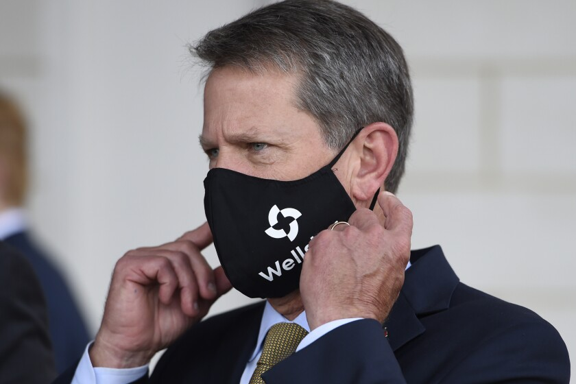 Republican Gov. Brian Kemp ordered cities and counties in Georgia to rescind their local mask mandates.