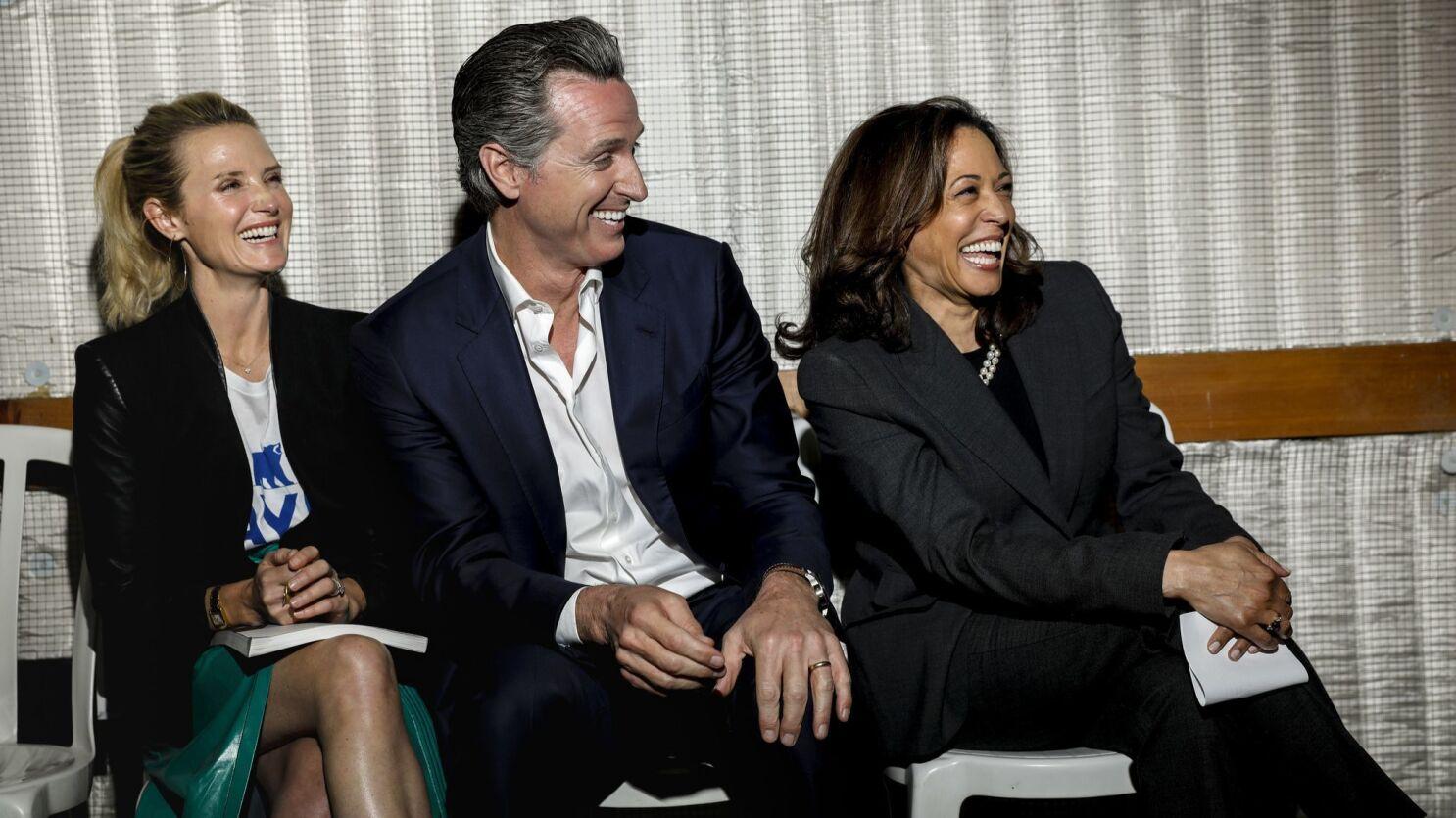 Sen Kamala Harris Gets Gov Gavin Newsom S Endorsement For President Los Angeles Times