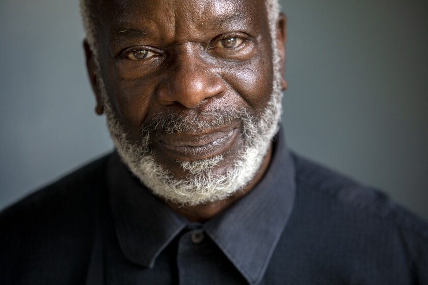 Portrait of English actor and comedian Joseph Marcell.