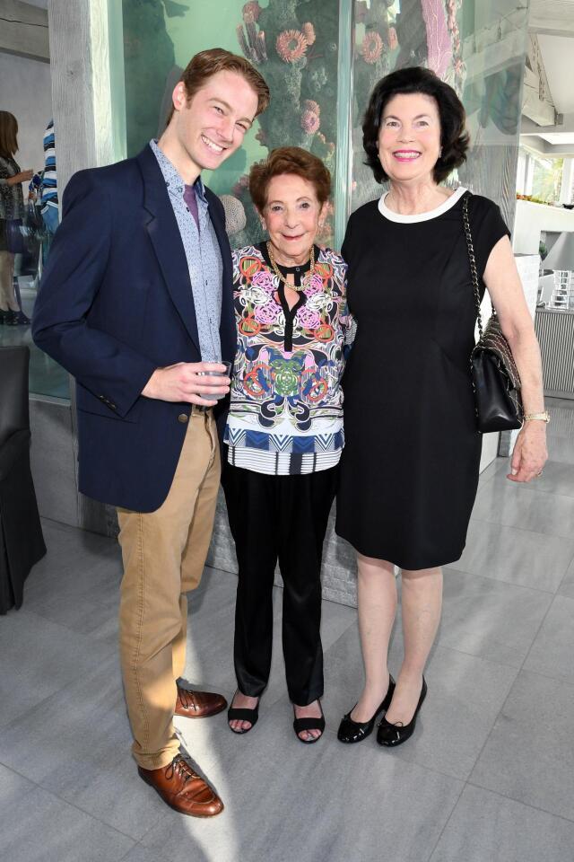 Ben Cole (NCRT theatre school director), Hannah Step (NCRT board member), Susan Winbigler