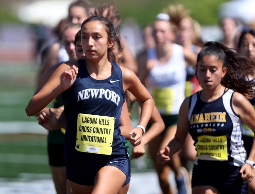 Newport Harbor cross country runner Mia Matsunami won the Laguna Hills Cross Country Invitational, d