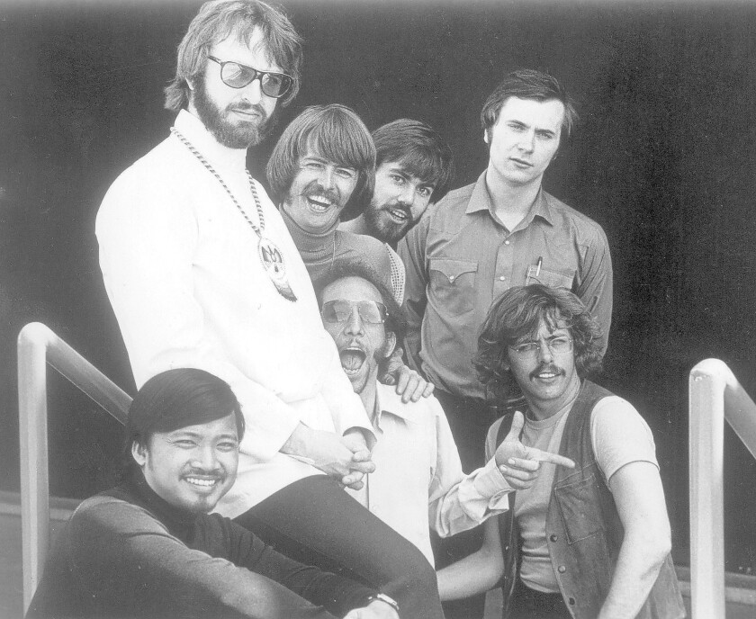 Larry Ramos, lower left, with the Association in the 1960s. The singer and guitarist has died at 72.