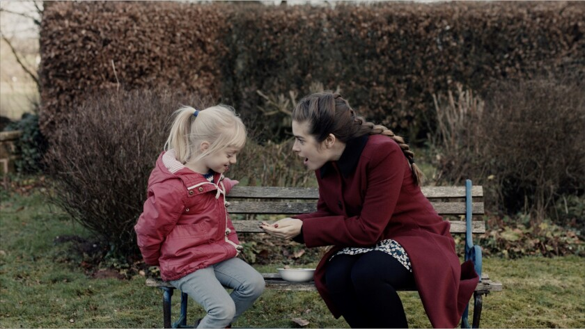 """(L-R) - Joanne (Rachel Shenton) with her student Libby (Maisie Sly) in a scene from """"The Silent Chil"""