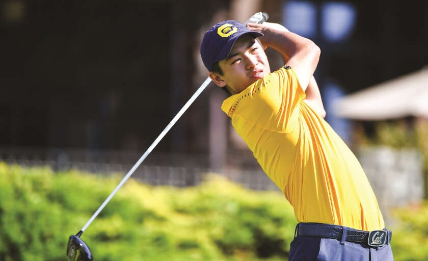 Former Torrey Pines golfer James Song made the starting lineup in his first year at Cal.