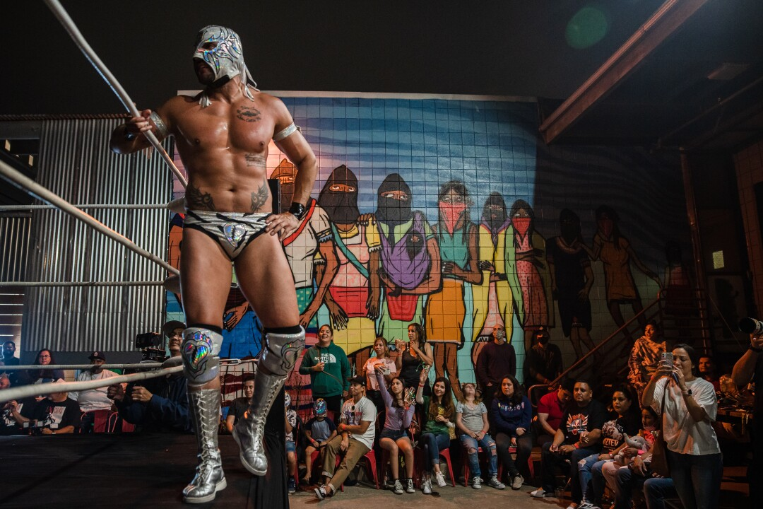 Romeo during the Baja Stars USA Lucha Libre event.