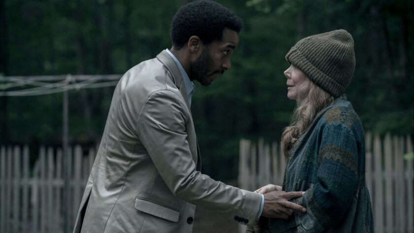 """André Holland plays a death row attorney and Sissy Spacek his adoptive mother in Hulu's Stephen King-inspired """"Castle Rock."""""""