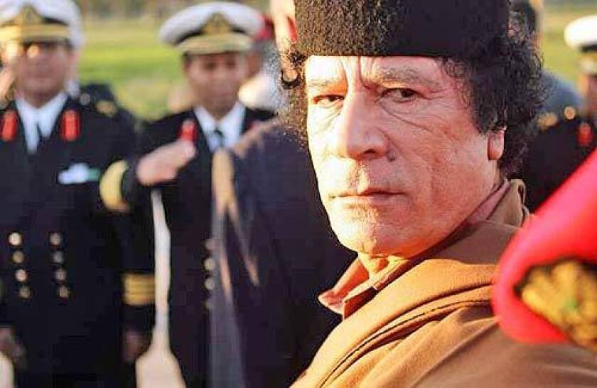 STRONGMAN: Moammar Kadafi, who came to power in a coup, has ruled Libya since 1969. Critics say the United States lets him crack down on opponents.