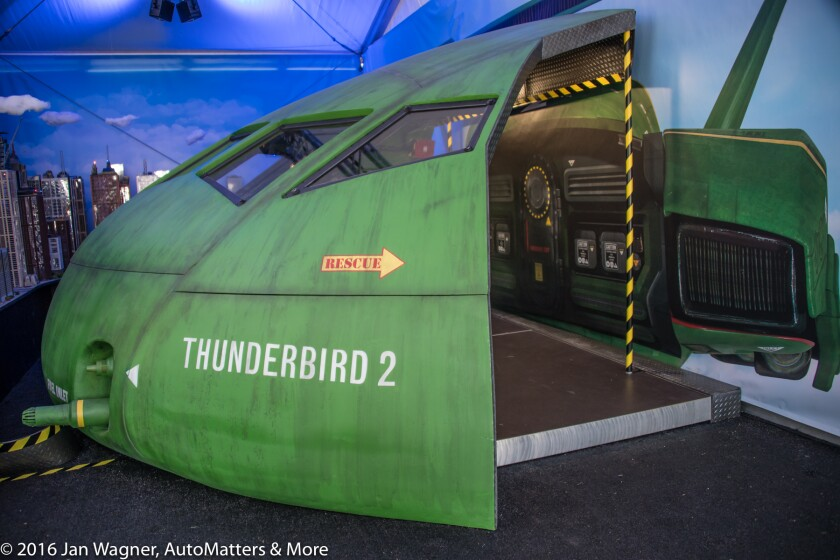 Thunderbird 2 exterior at THUNDERBIRDS ARE GO San Diego Comic-Con 2016 experience