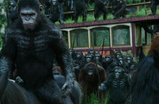 'Dawn of the Planet of the Apes' Movie review by Kenneth Turan
