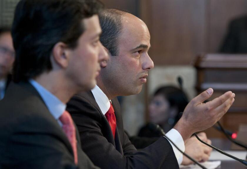 Héctor Ferrer Ríos (d), Presidente del Partido Popular Demócrata de Puerto Rico. EFE/Archivo